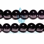 AG-BW09 , Beads , black 14mm round , agate